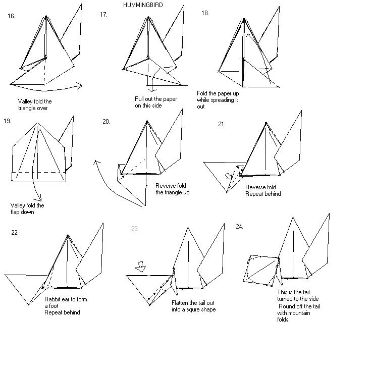 X-Wing Fighter origami diagram Easy version 3 | If you finis… | Flickr | 735x737