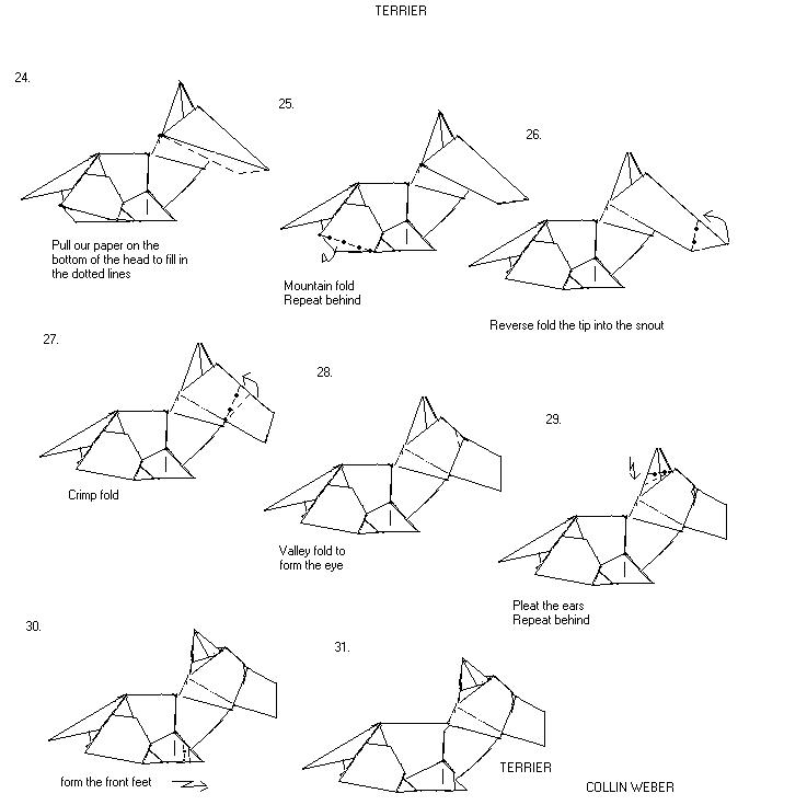 origami diagrams rh paperfolding com complex origami dog diagrams Origami Dog Diagrams Corgi